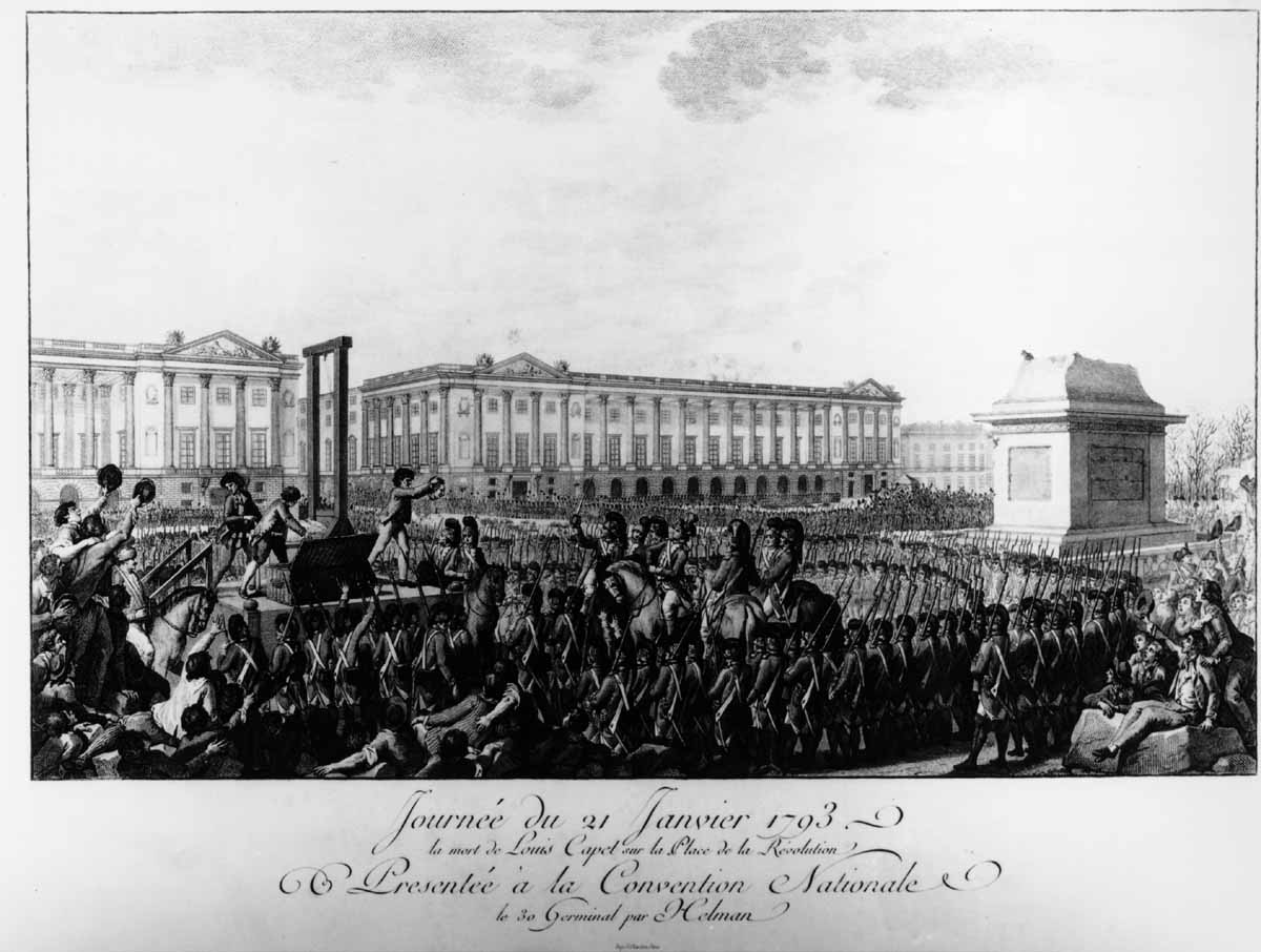 Execution of Louis XVI. Engraving (unknown: mid-19th century). Author's collection.