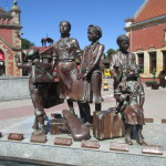 Kindertransport memorial in Gdansk, Poland. Photo by Dr. Avishai Teicher (2013).