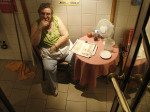 Madame Pipi – A toilet lady. Photo by Yves Lorson (2006). PD-Creative Commons Attribution 2.0. Wikimedia Commons.