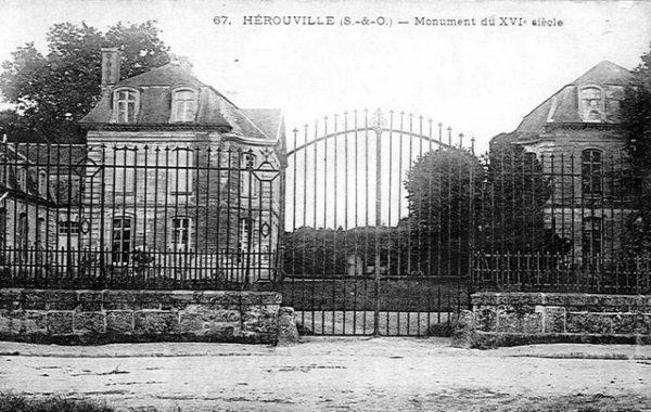 Château d'Hérouville (France). Photo (carte postale). PD+70; PD-US. Wikimedia Commons.