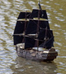 Model pirate ship. Photo by Tony Hisgett (2010). PD-CCA 2.0 Generic. Wikimedia Commons.
