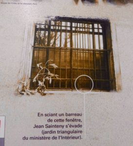 Exterior view of window where Jean Sainteny made his escape from the Gestapo prison at Rue Cambacérès. Photo by Raphaelle Crevet (2016).