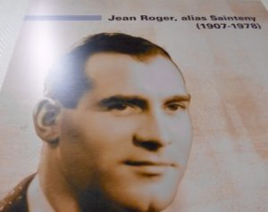 Photo of Jean Sainteny from the war years. It hangs on the wall next to the cells inside the Ministry of the Interior, rue des Saussaies. Photo by Raphaelle Crevet (2016).