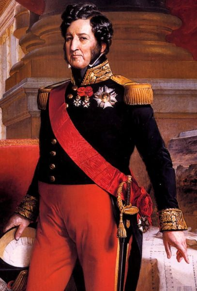 King Louis-Philippe. Map: Painting by Franz Xaver Winterhalter (2006). PD- 100+ Wikimedia Commons.