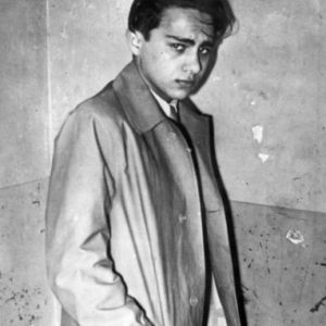 Herschel Grynszpan after being arrested by French police. Photo by anonymous (c. 1938). Bundesarchiv. PD-Creative Commons Attribution-Share Alike 3.0. Wikimedia Commons.
