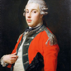 Portrait of George Cholmondeley, 1st Marquess of Cholmondeley. Oil painting by anonymous (c. 1772). Houghton Hall. PD-100+ Wikimedia Commons.