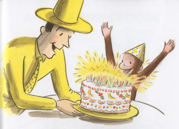 Rey, Margret & H.A. Curious George and the Birthday Surprise. New York: Houghton Mifflin Company, 2003. Illustration in the style of H.A. Rey by Martha Weston. Available at Amazon and all fine bookstores