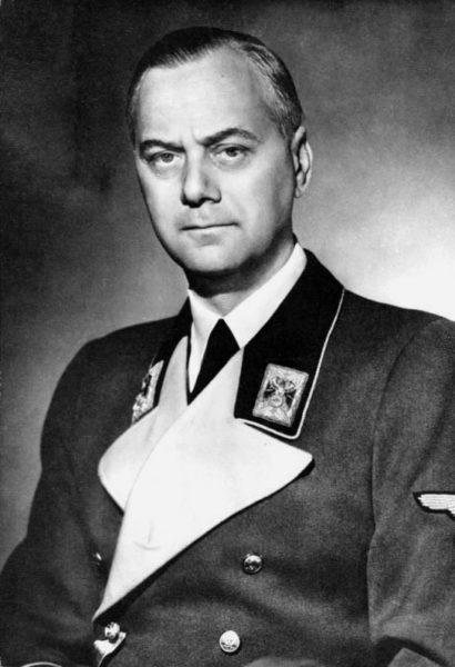 Alfred Rosenberg. Photo by Friedrich Franz Bauer (c. 1933). German Federal Archives—Bundesarchiv. PD-Creative Commons Attribution-Sharealike 3.0 Germany. Wikimedia Commons.