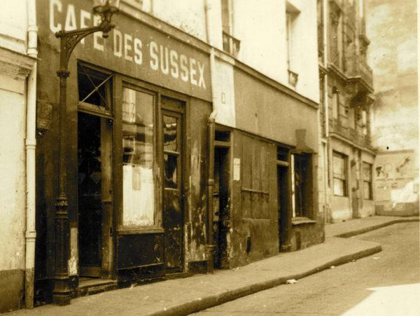 Café des Sussex. 8, rue Tournefort. Photo by anonymous (date unknown). With gratitude to Dominque Soulier and Collection SUSSEX 1944 – MM PARK – 67610 La Wantzenau.