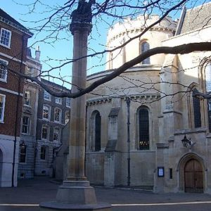 The Temple Church, London. Photo by Baggy Suggs (2006). PD-Creative Commons Attribution-Share Alike 2.0. Wikimedia Commons.