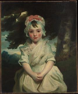 Portrait of Georgiana Augusta Frederica Elliott (Seymour), later Lady Charles Bentinck. Painting by Sir Joshua Reynolds (1784). Metropolitan Museum of Art.