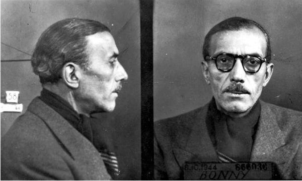 Mug shot of Pierre Bonny. Photo by anonymous (c. November 1944).