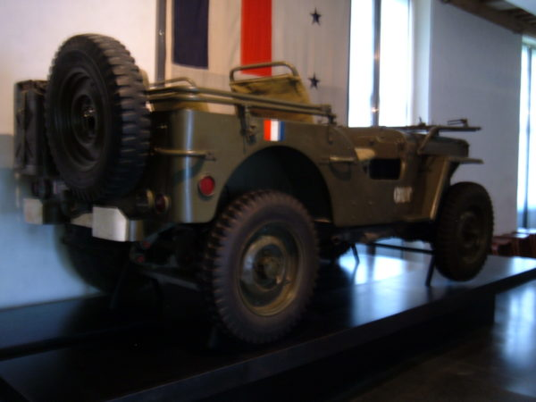 Marshal Jean de Lattre de Tassigny's jeep on display at the Musée de l'Armée in Paris, France. Photo by BrokenSphere (2005). © BrokenSphere/Wikimedia Commons. PD-CCA – Share Alike 3.0.