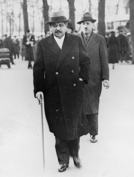Pierre Laval walking to the Chamber of Deputies. Photo by ACME (6 January 1936). Author's collection.