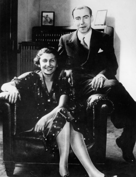 Mlle. Josée Laval and her fiancé, René de Chambrun. Photo by International News (c. 1935). Author's collection.