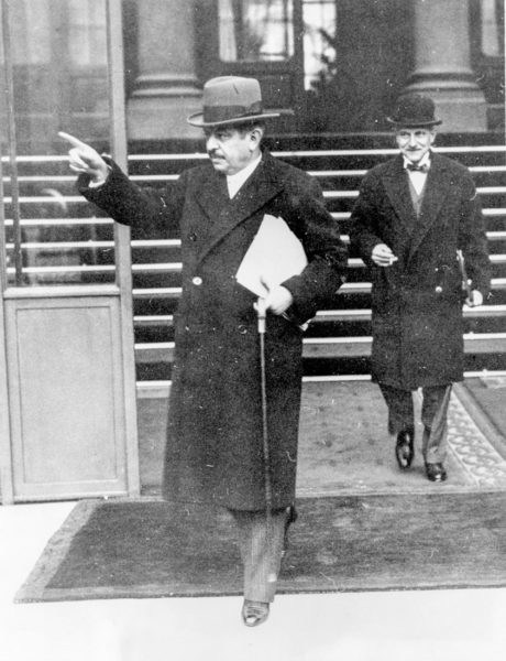 Pierre Laval hailing his car after leaving a meeting with his cabinet at the Élysées Palace. Photo by ACME (3 December 1935). Library of Congress, Prints & Photographs Division. Author's collection.