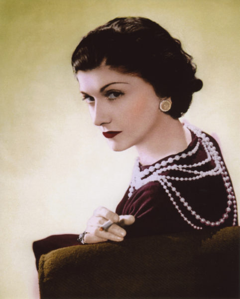 Coco Chanel. Photo by anonymous (date unknown). Author's collection.