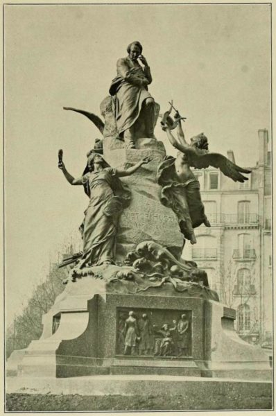 The Victor Hugo monument in Paris. Photo by anonymous (1908). Georges Lafenestre, L'œuvre de Ernest Barrias, Paris, Renouard, 1908. PD-70+. Wikimedia Commons.