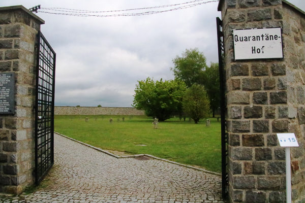 Mauthausen memorial—mass graves. Photo by Werner100359 (2017). PD-Creative Commons Attribution-Share Alike 4.0 International. Wikimedia Commons.