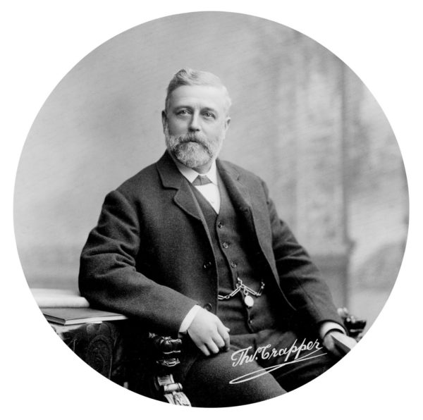 Portrait of Thomas Crapper. Photo by anonymous (c. 19th-century). PD-70+. Wikimedia Commons.