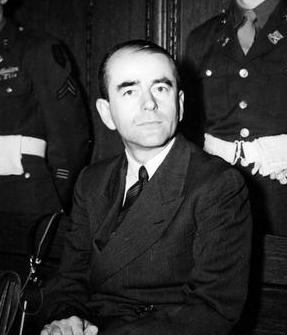 Albert Speer at the Nuremberg trial. Photo by Charles Alexander/US Army (c. 1946). PD-US Government. Wikimedia Commons.